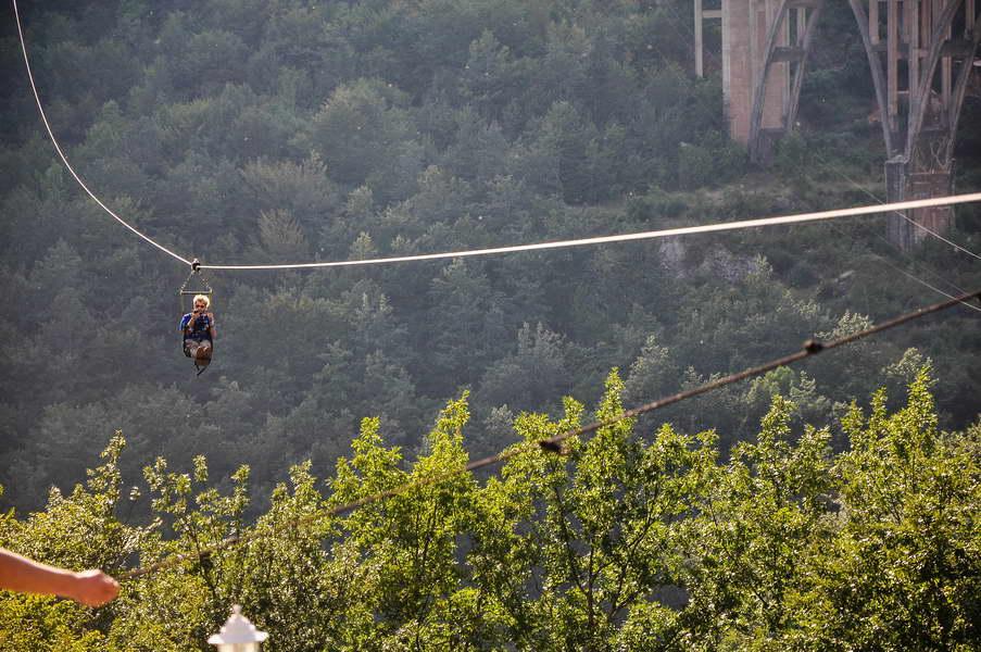Dimitrije je isprobao zipline preko Tare