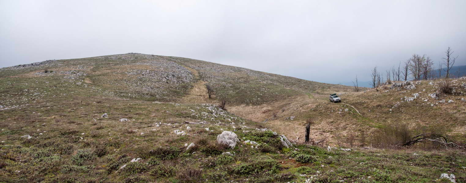 It was only +3 C in late April on this desolate looking terrain