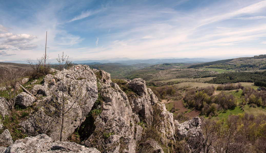 A view over Oštra Čuka to the south