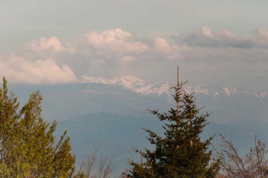 Peaks of Stara planina still under snow on April 30th