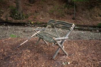 The improvised bench at Vinatovača