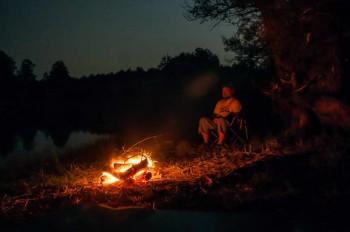 Night on lake Vrmdža