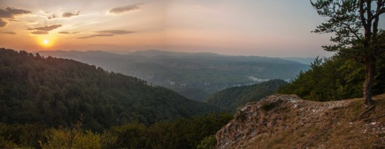 Zalazak Sunca na grebenu Malinika