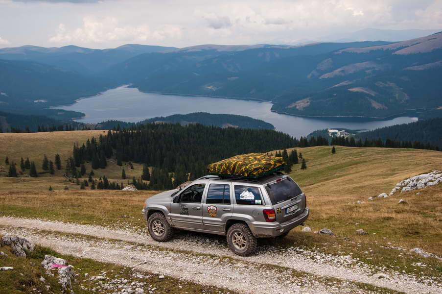 Over lake Vidra in the Carpathians