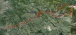 Trasa kretanja drugog dana (68 km)