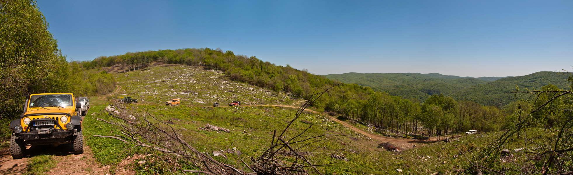 Raskrsnica na kojoj se račva put ka vrhu Starice