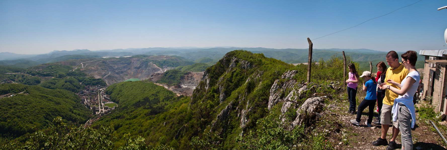 Pogled sa Starice na Majdanpek i rudnik