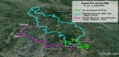 Mapa trasa tokom sva tri dana - na tri različite strane