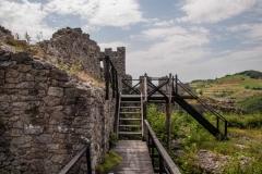 Pri trasiranju smo videli i tvrđavu Koznik - ali kasnije je nismo obišli