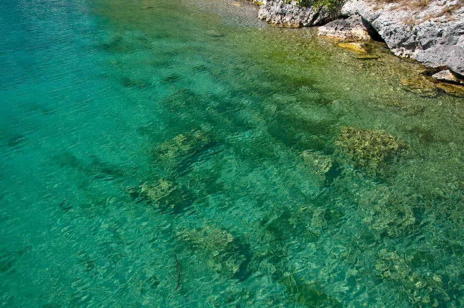 Preko zelene vode zaliva