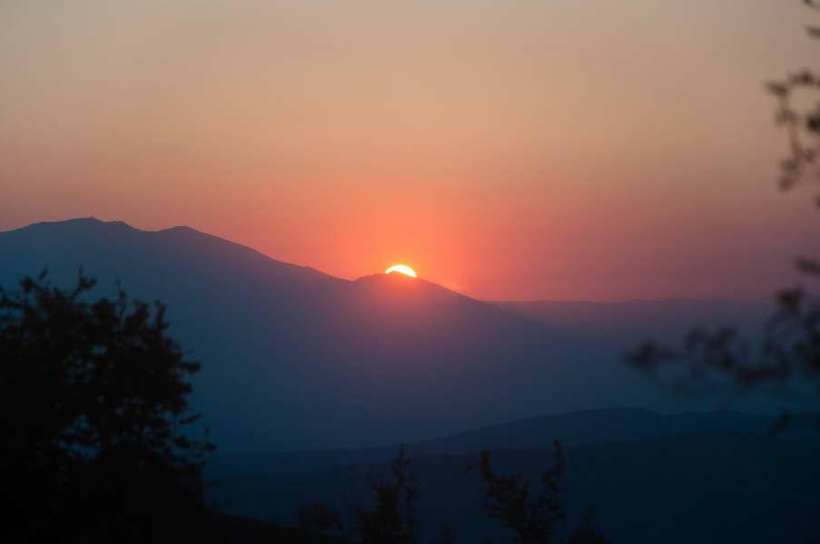 Sunce zalazi za Pelisterom