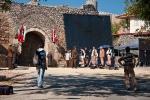 Snimanje filma na ulazu u tvrđavu
