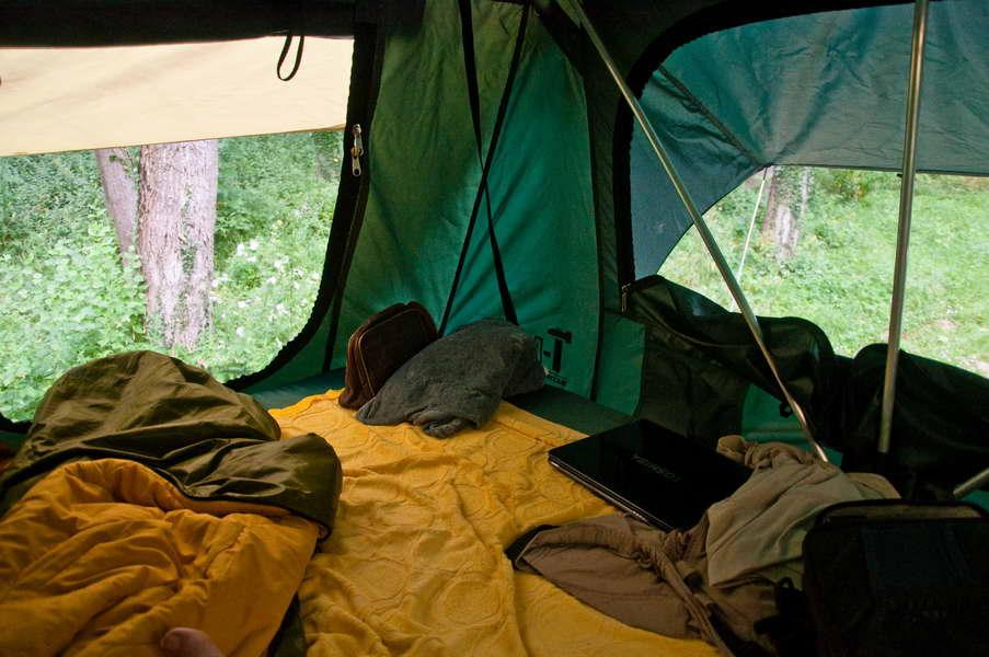 Šator s 5 zvezdica iznutra...
