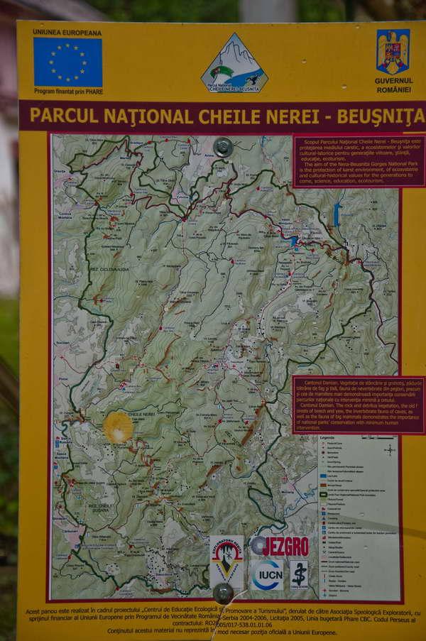 Mapa nacionalnog parka - detaljna