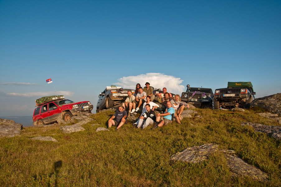Ekipa na vrhu, na 1800 m