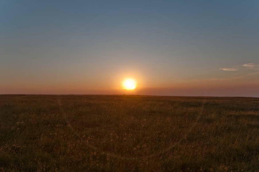 Zalazak Sunca na vrhu grebena