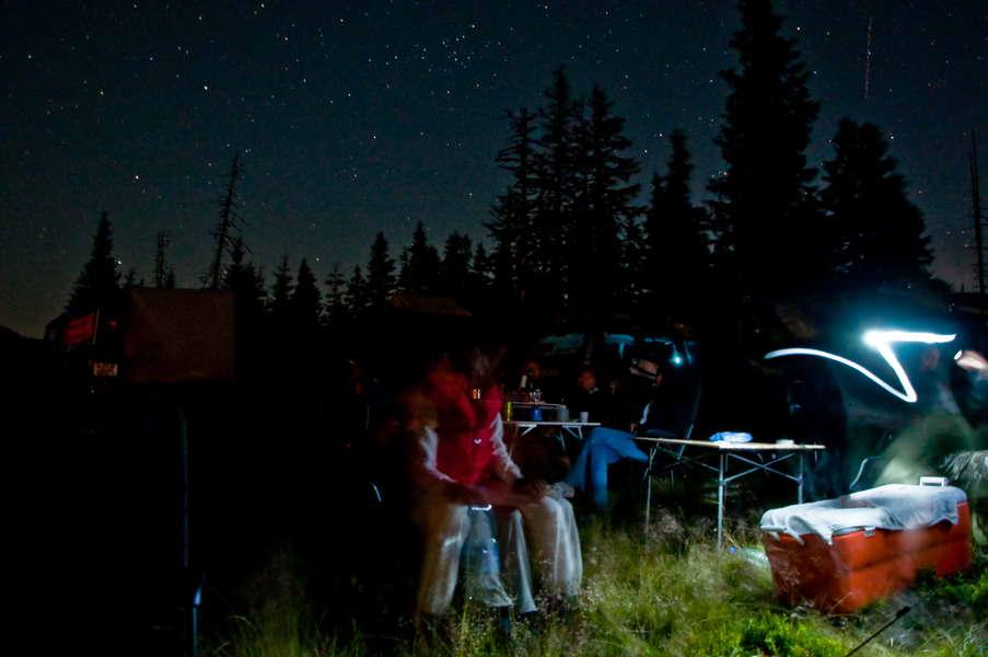 Noć na 1700 m - najviši kamp