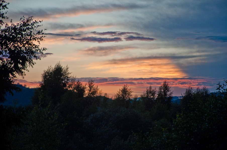 Zalazak sunca nakon oluje