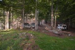 Naš prvi logor u šumi pri usponu na Carku