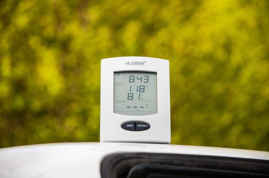 11.8 C - a standard springtime morning