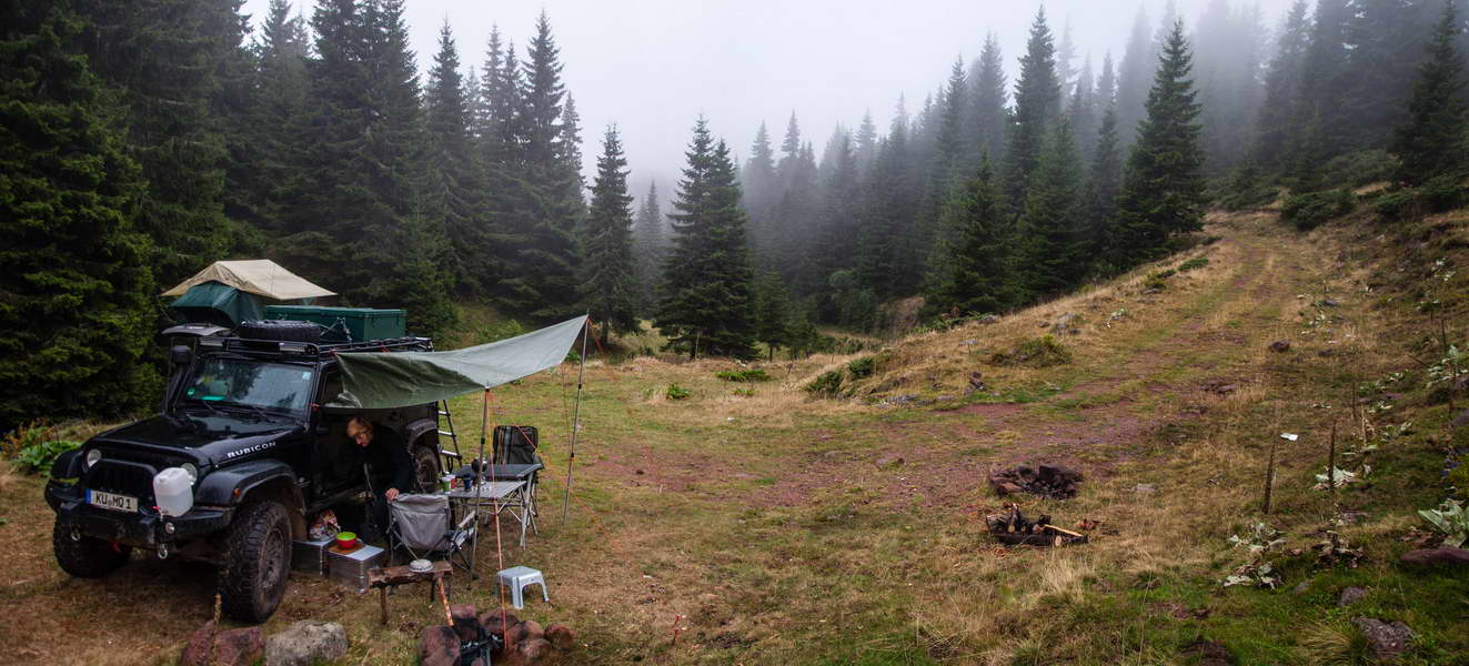 On a cloudy morning in our camp