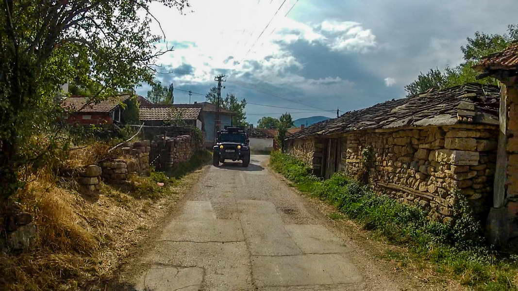 Passing through Slavinja village