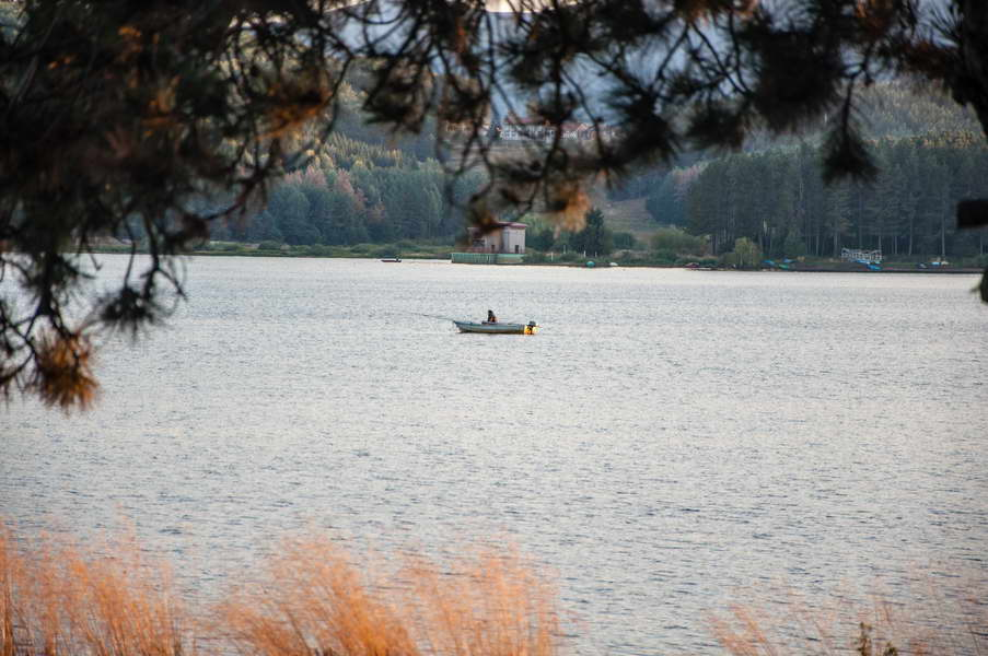 Lone fisherman on Vlasina lake