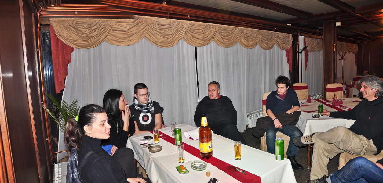 U Vranju, sa društvom