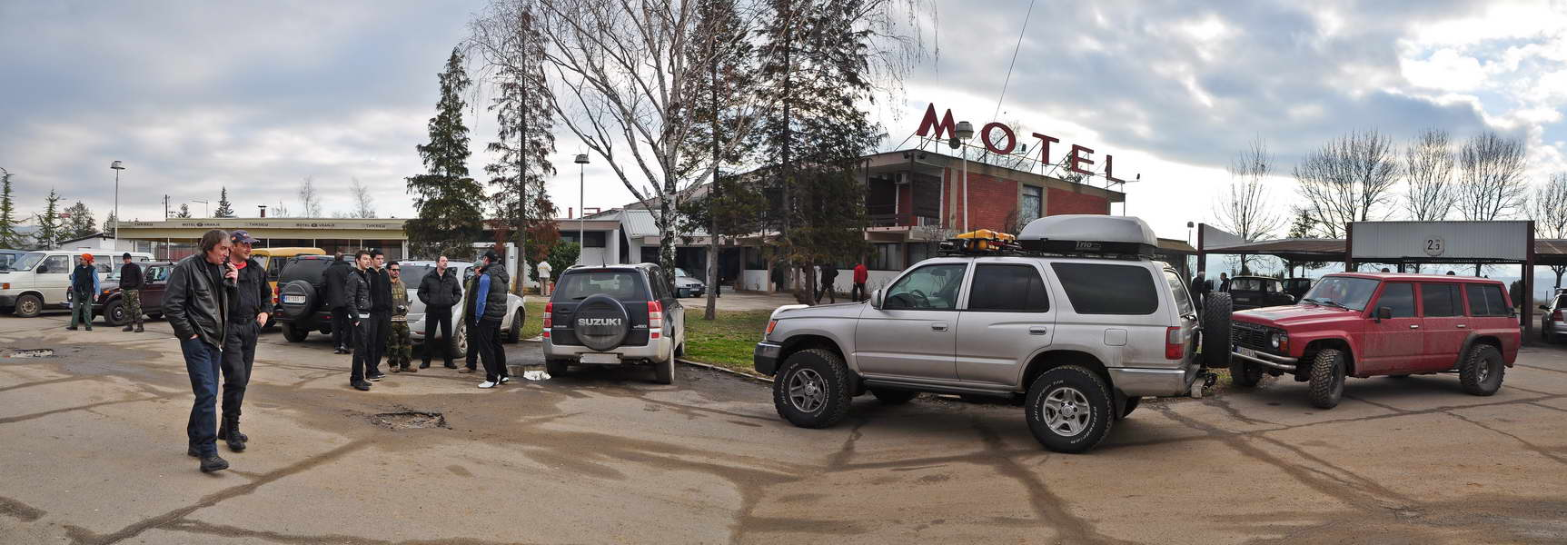 Pred jutarnji polazak ispred motela Vranje