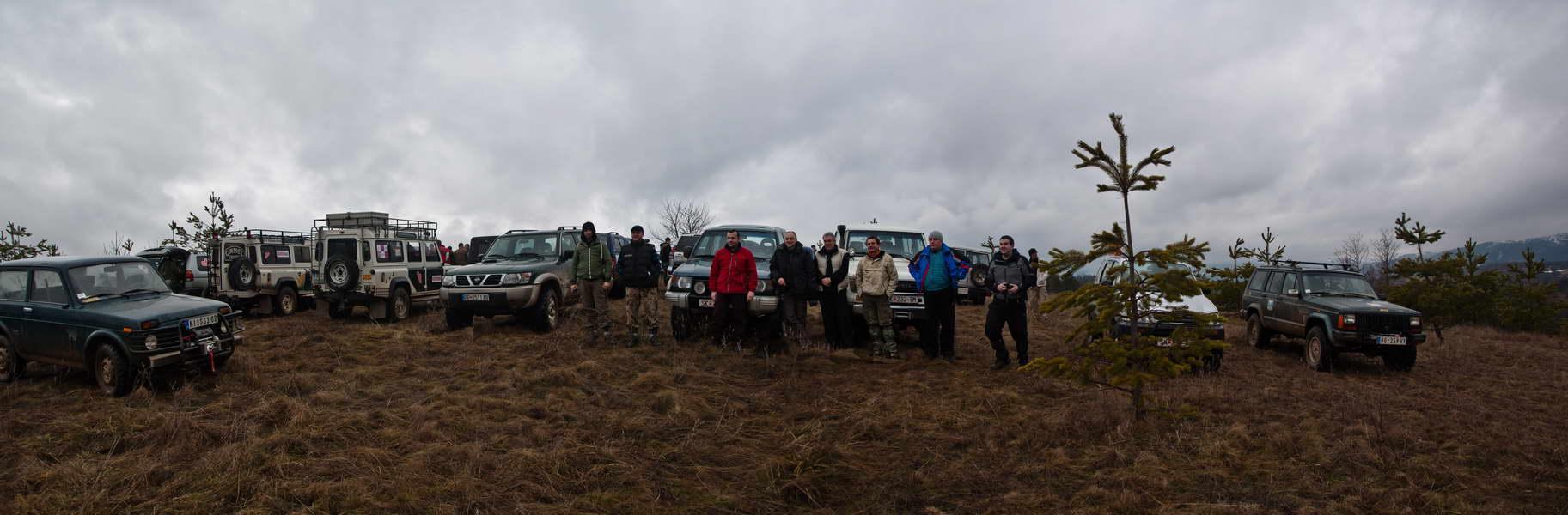Prvo postrojavanje na putu po Milevskoj planini