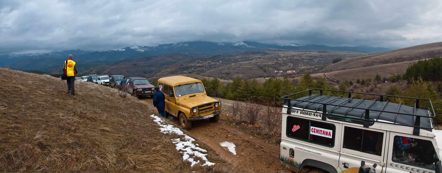 Iako bez snega i znatno niža, i trasa drugog dana bila je veoma živopisna