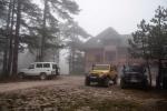 Planinska kuća Tara u nedelju ujutro pred polazak